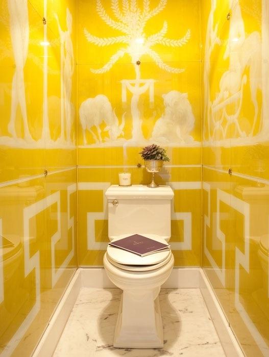 21 ideas for yellow sunny bathroom for Bathroom decor yellow