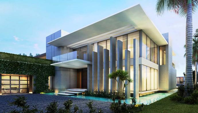 32 millions for modern miami beach residence for Modern residences