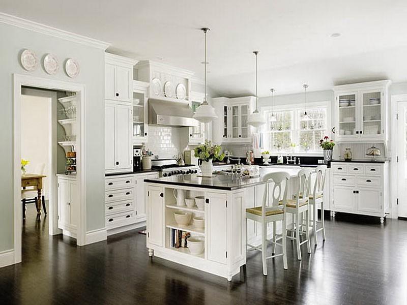 Modern kitchen in white for White kitchen designs with islands