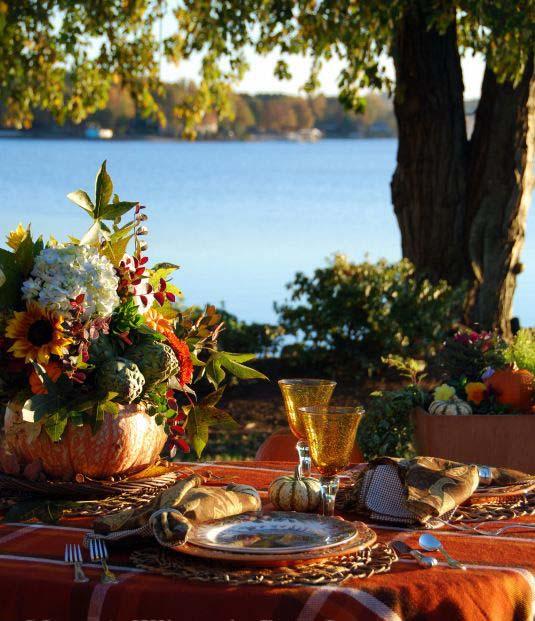 Outdoor Thanksgiving Dinner Decor Ideas