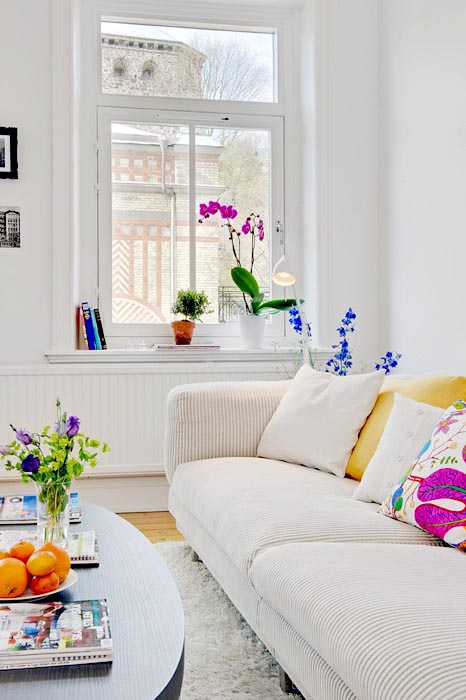 Click To Enlarge Image Colorful And Airy Spring Living Room  ...