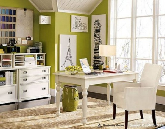 Fantastic 25 Home Office Dcor Ideas To Bring Spring To Your Workspace