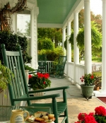 Decorative porches in the spring