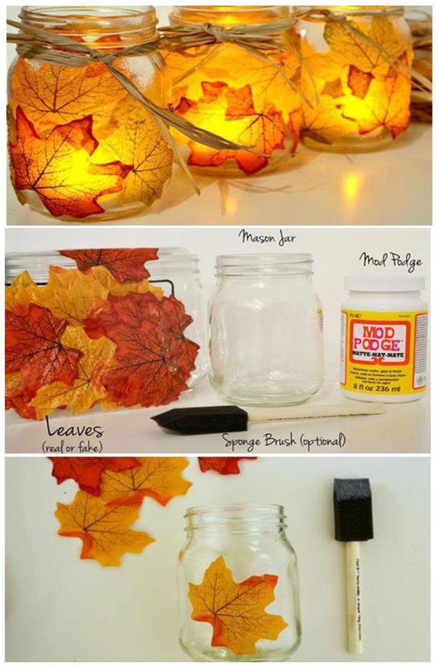 Perfect autumn decoration \u2013 decoupage technique