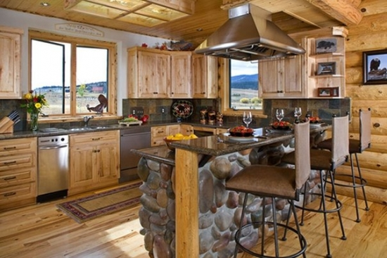 Colorful kitchen in country style