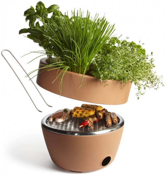 BBQ and herbs pot All in one