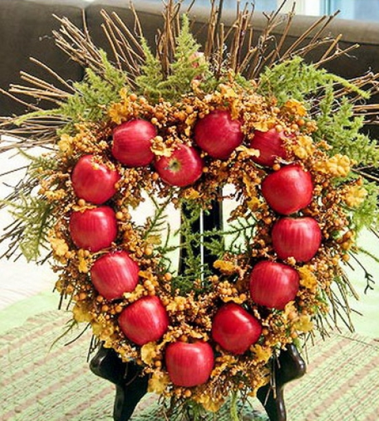 Decoration with colorful apples