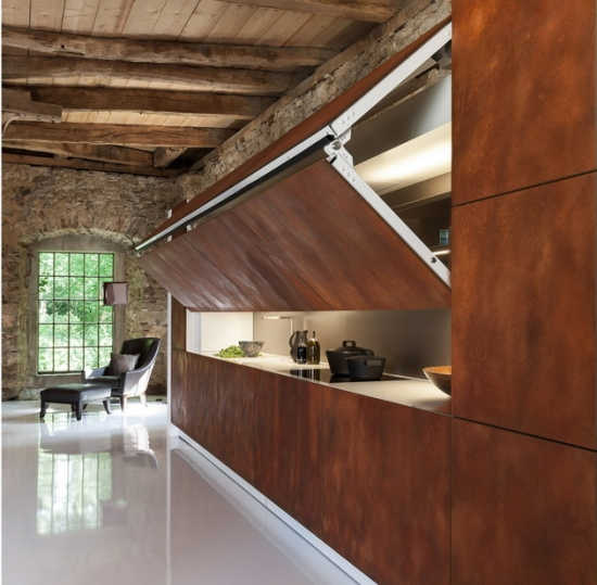 Contemporary Hidden Kitchen Design
