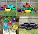 Recycling Old Tires Into Nice Garden Decoration