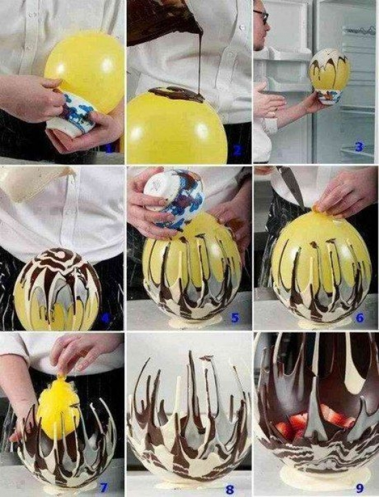 DIY ... Chocolate Fruit Bowl