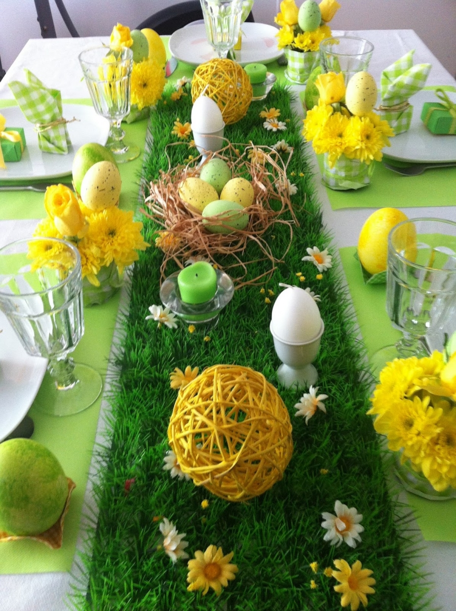 easter table decorations. Black Bedroom Furniture Sets. Home Design Ideas