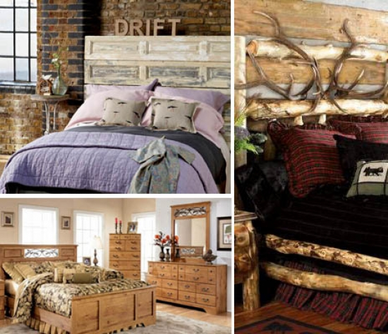 Bedroom in rustic style